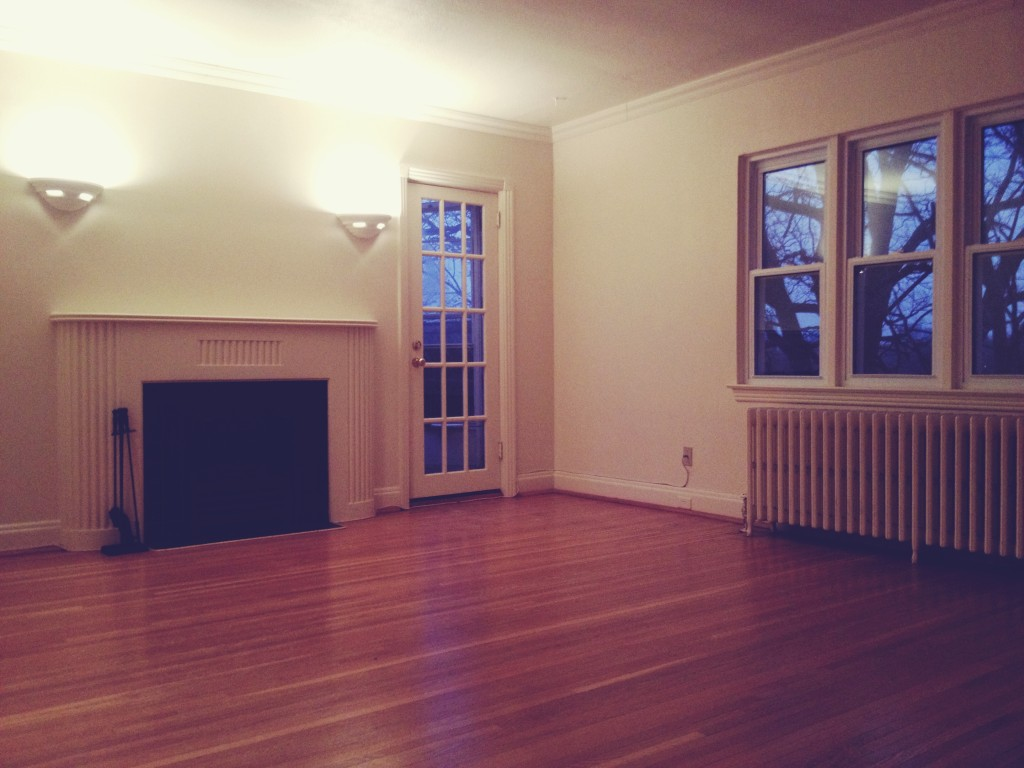 New apartment with fireplace