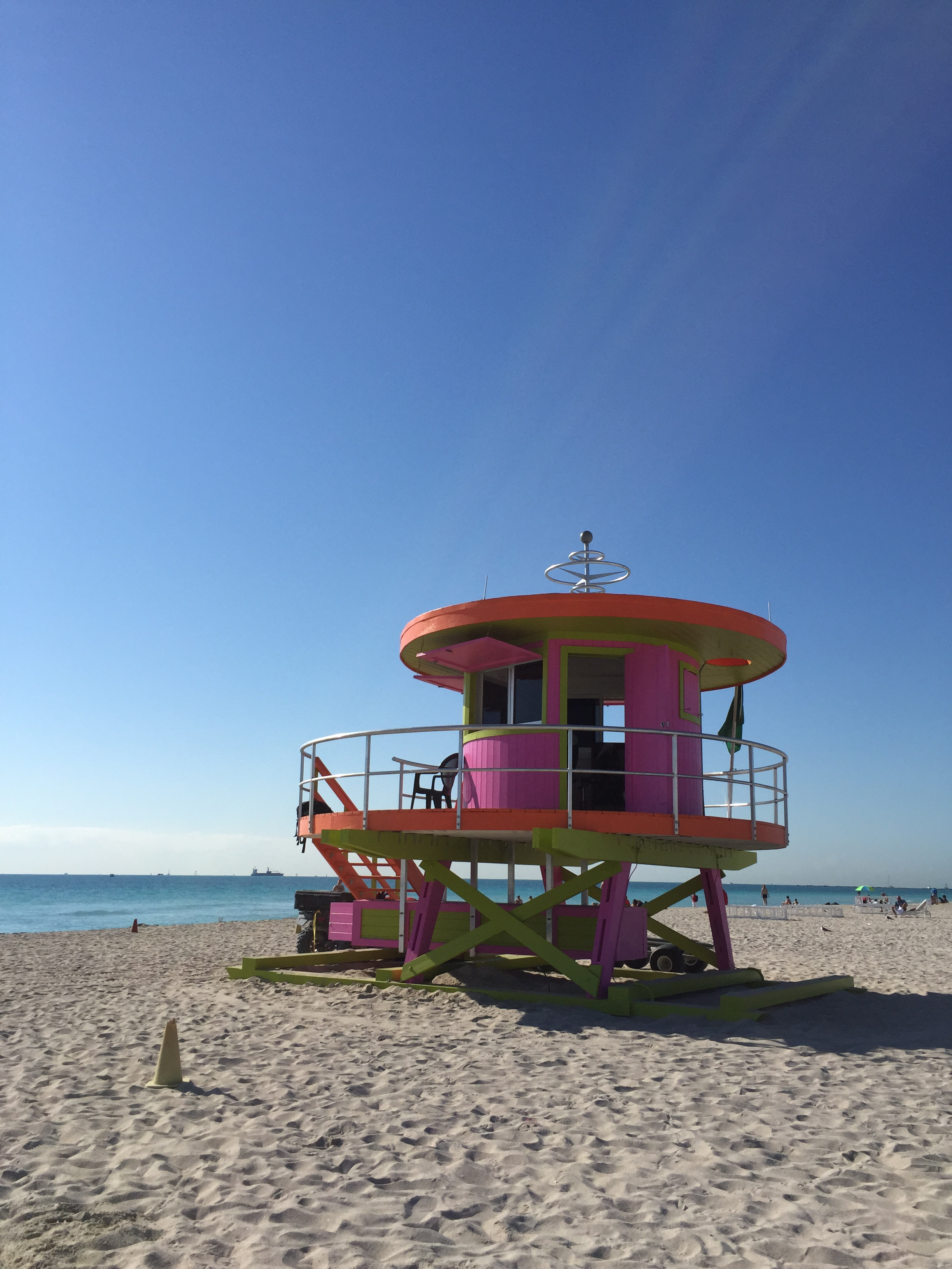pink miami lifeguard tower