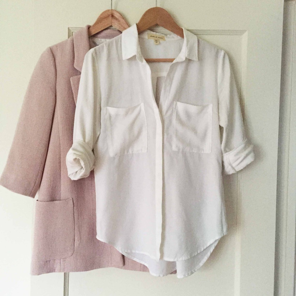 white and pink outfit
