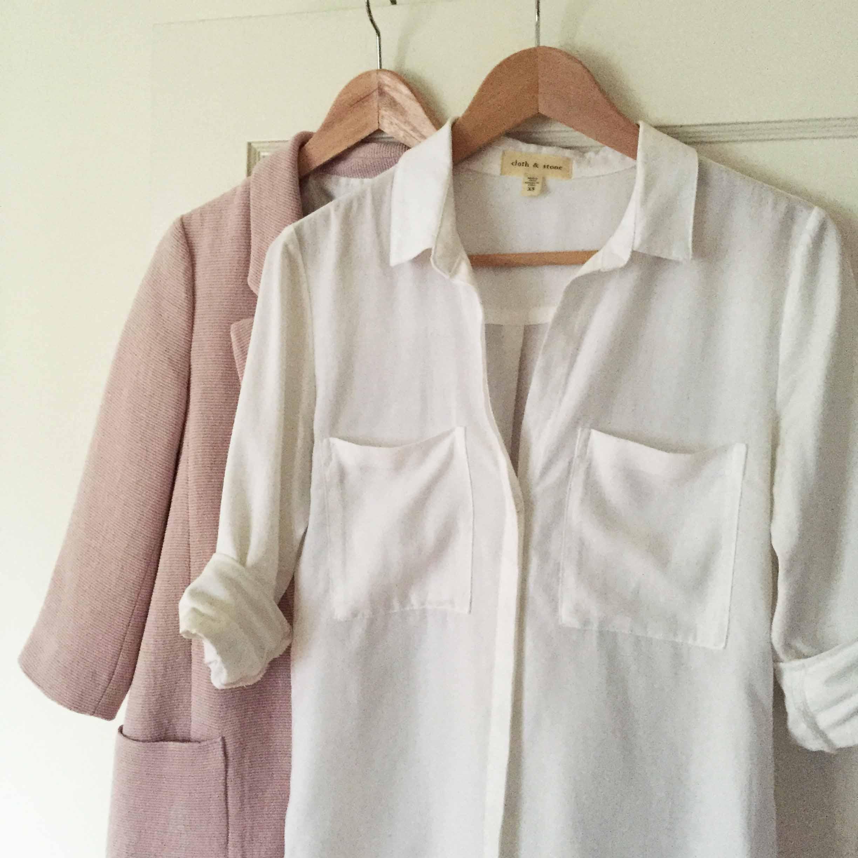 White Cotton Button Down Shirt Shirts Rock