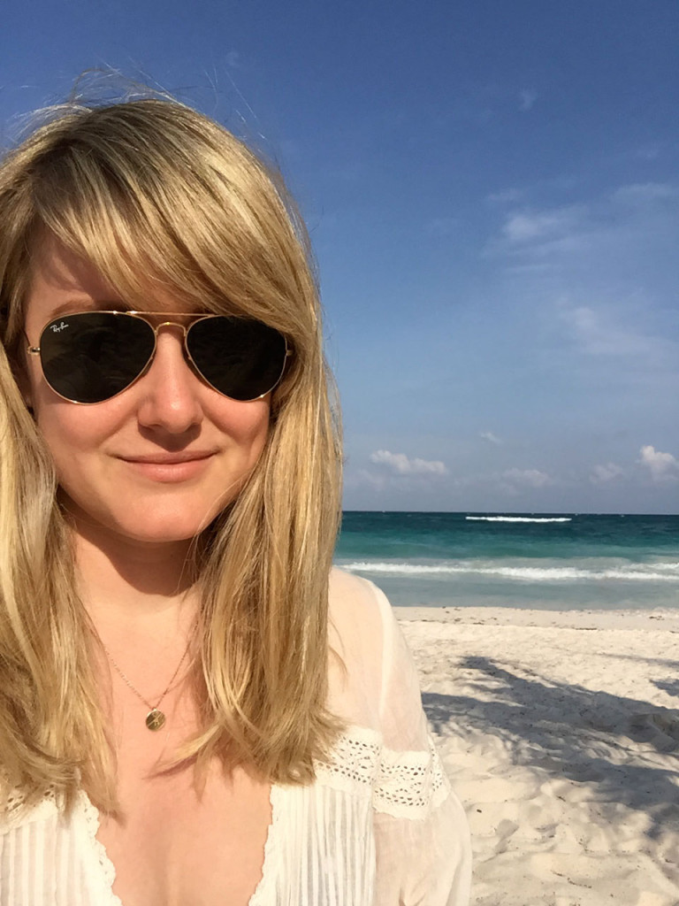 selfie in tulum mexico